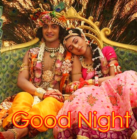 Wonderful Radha and Krishna Good Night Pic