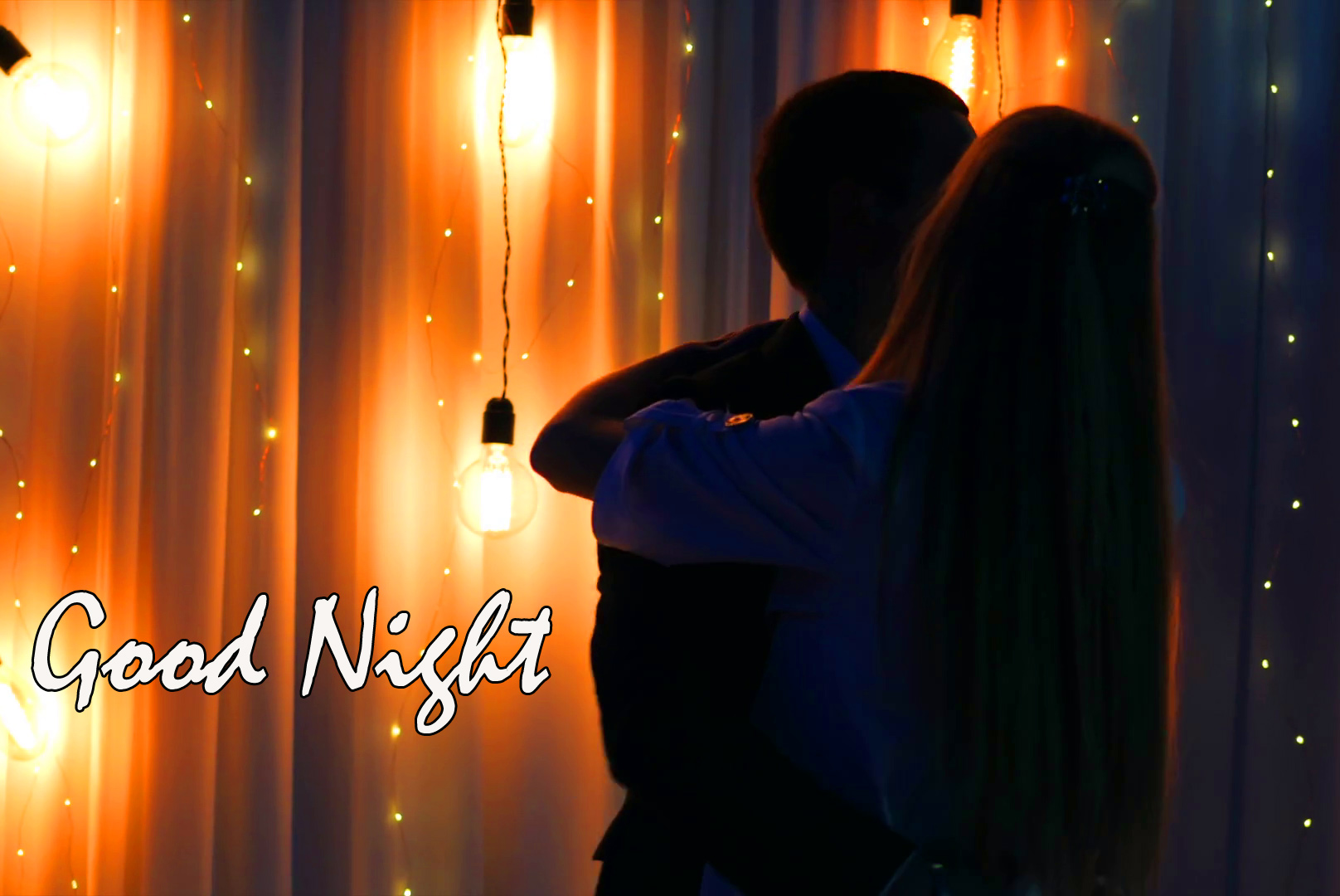 Young Romantic Couple Good Night Picture