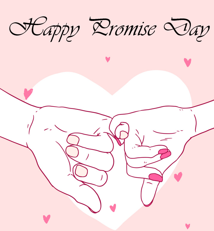 Adorable Animated Happy Promise Day Greeting Image