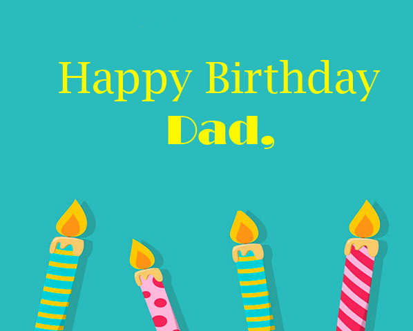 Animated Candles Happy Birthday Dad Image