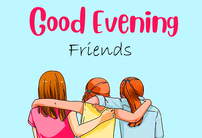 Animated Cartoon Good Evening Friends Image
