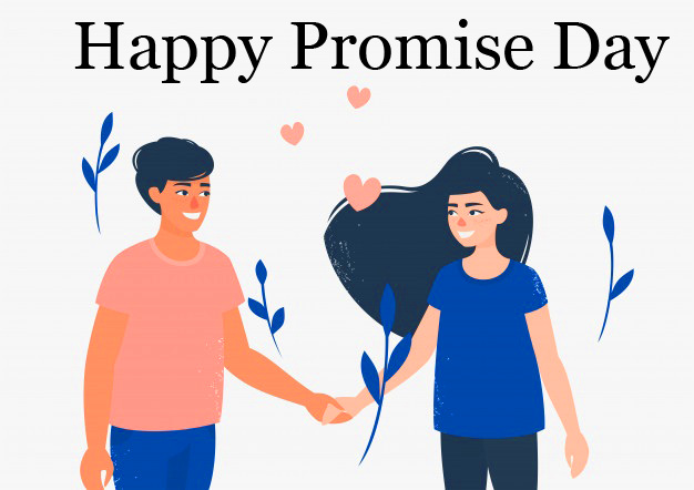 Animated Cartoon Happy Promise Day Image