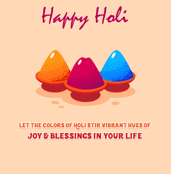 Animated Colors Message Happy Holi Pic