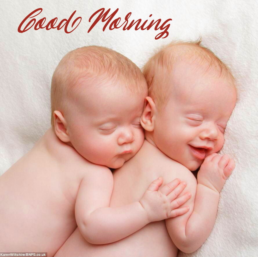 Baby Boys with Good Morning Wish