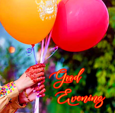 Balloons with Good Evening Cute Message
