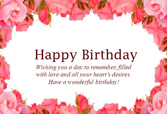 Beautiful Floral Happy Birthday Message Pic