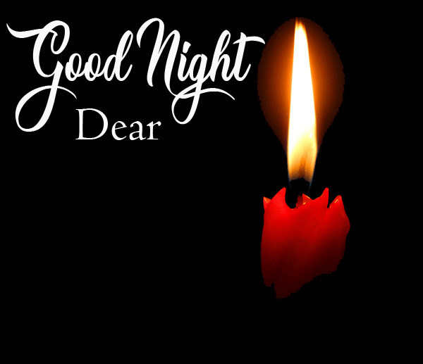Beautiful Good Night Dear Candle Light Picture