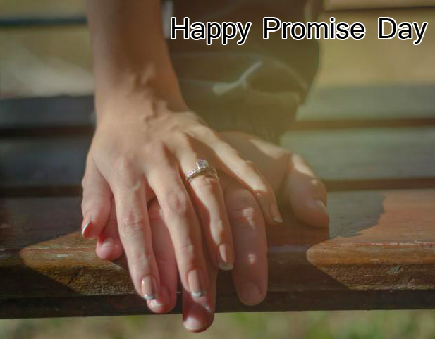 Beautiful Happy Promise Day Hands Wallpaper