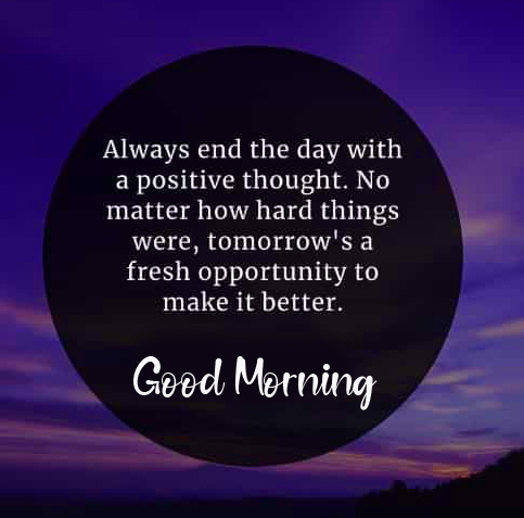 Beautiful Positive Quote Good Morning Image
