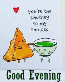 Best Samosa and Chutney Good Evening Image