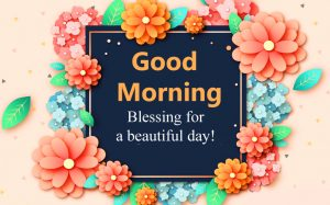 Blessing Good Morning HD Floral Photo