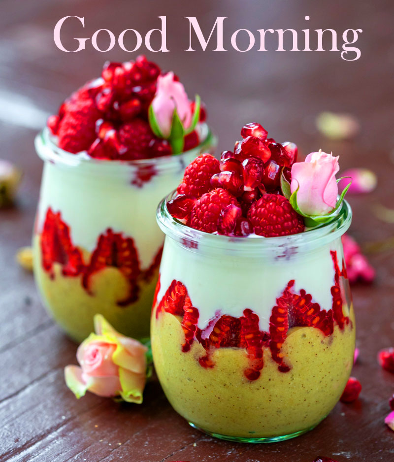 Breakfast Glass with Good Morning Wish