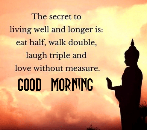 Buddha Happiness Positive Quotes Good Morning Pic
