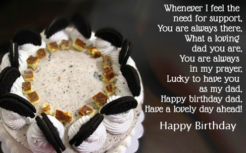 Cake with Happy Birthday Message Pic