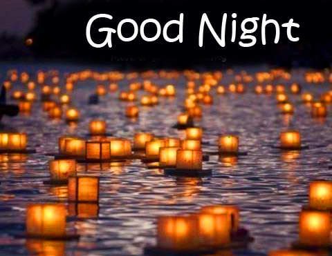 Candles in Water with Good Night Wish
