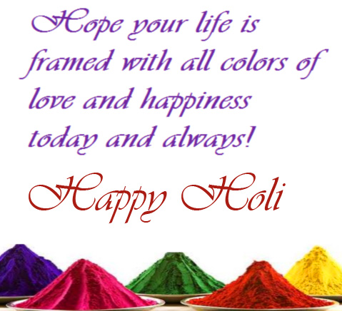 Colors with Quotes and Happy Holi Wish