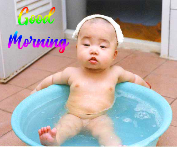 Cute Funny Baby Good Morning Picture