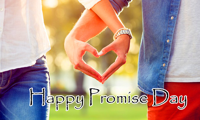 Cute Lovers Heart Happy Promise Day Image