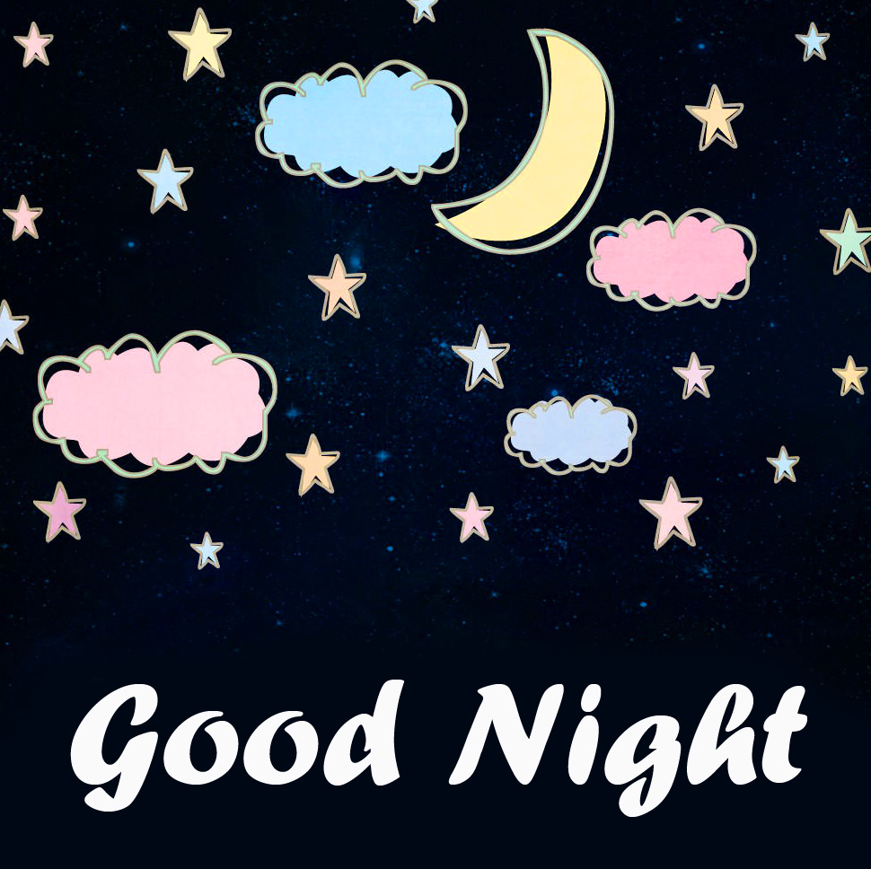 Cute Moon and Stars Good Night Picture