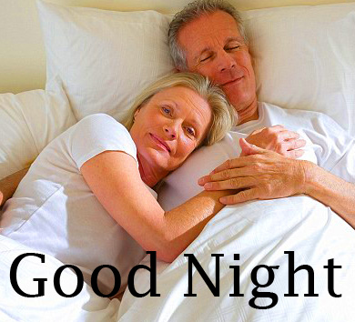 Cute Old Husband Wife Good Night Picture