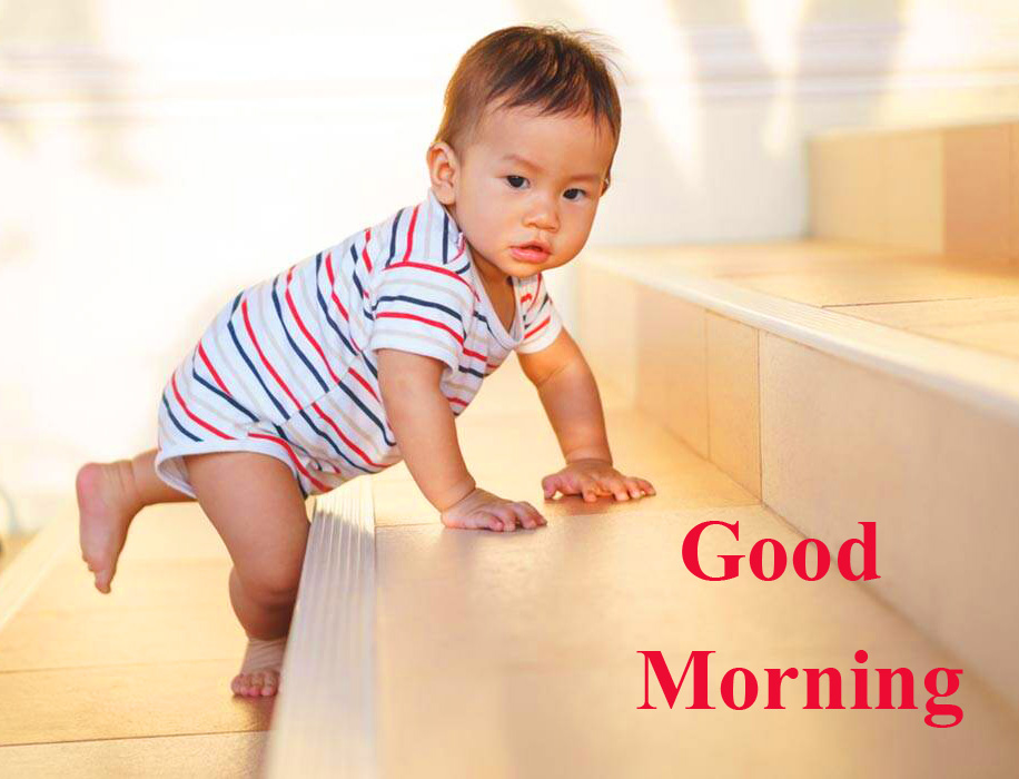 Cute and Adorable Baby Boy Good Morning Image