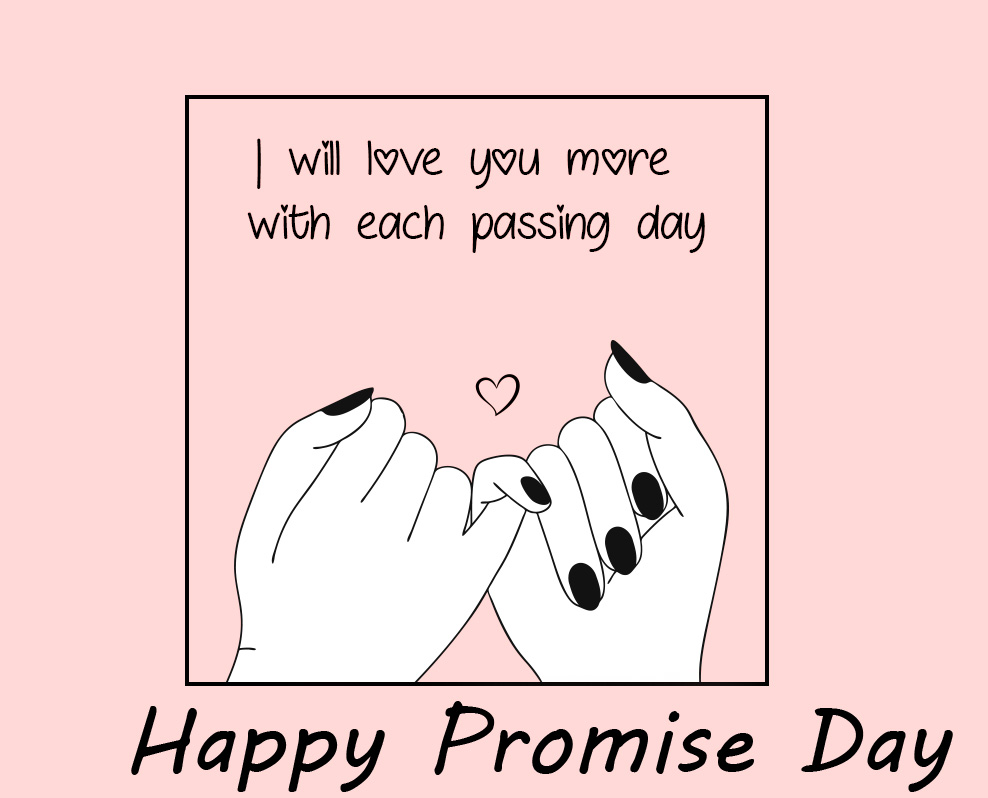 CuteHappy Promise Day Animated Lover Hands Pic