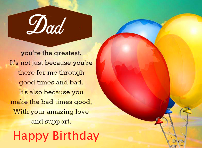 Dad Happy Birthday Message Picture