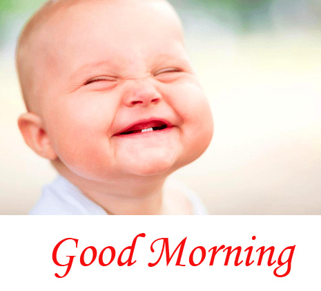 Funny Baby Good Morning Image