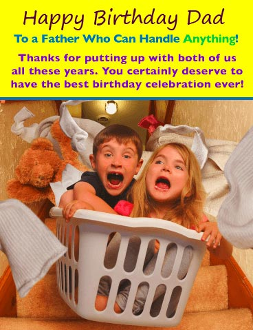 Funny Happy Birthday Dad Message Picture
