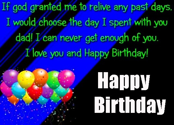God Granted Happy Birthday Dad Message Picture