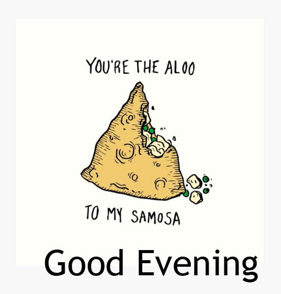 Good Evening with Lovely Samosa Pic HD