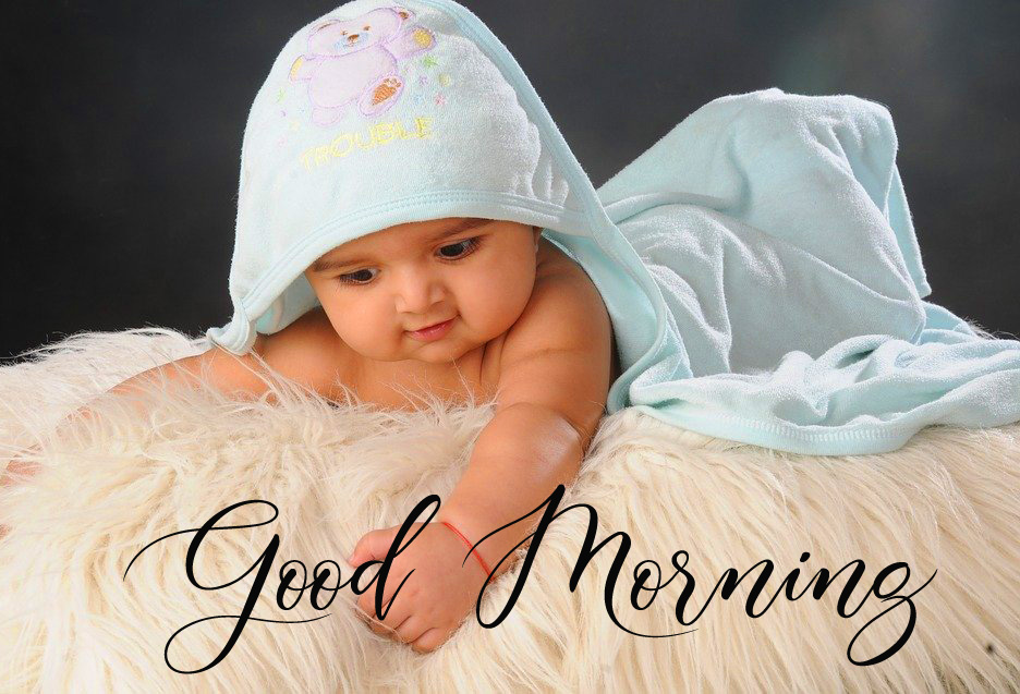Good Morning Cute Baby Boy Picture