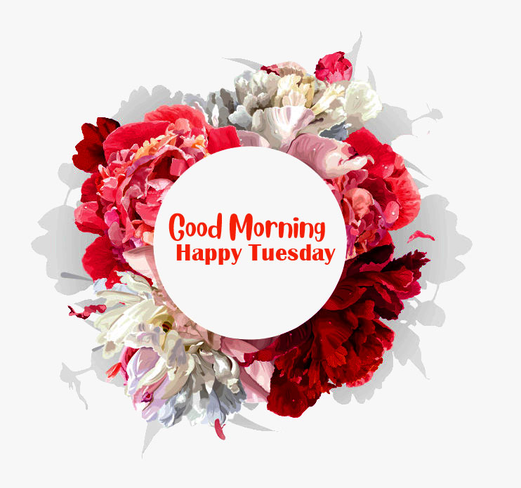 Good Morning Happy Tuesday Flowers Bouquet Image