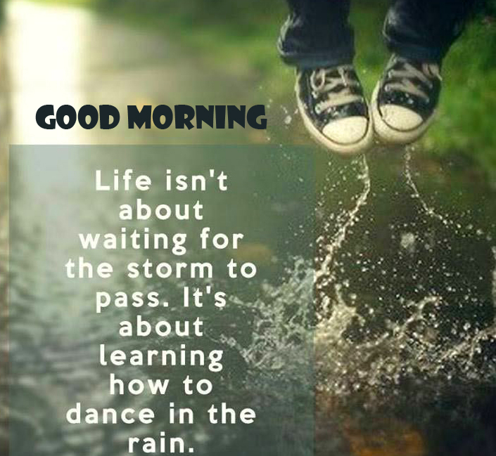 Good Morning Image with Positive Words
