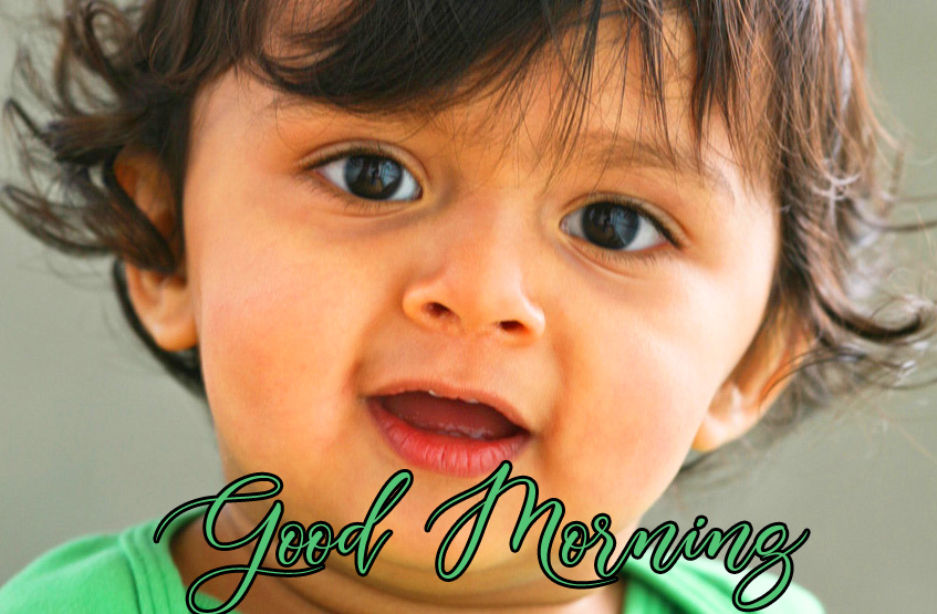 Good Morning Message with Lovely Baby Boy Pic