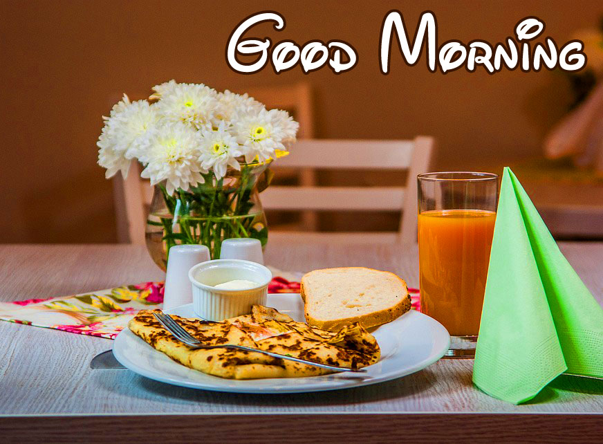 Good Morning Wish with Beautiful Breakfast Picture