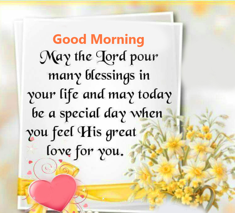 Good Morning Wish with Blessing Message