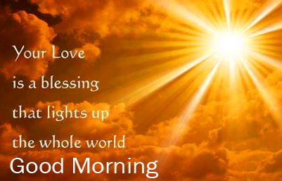 Good Morning with Love God Quotes Image