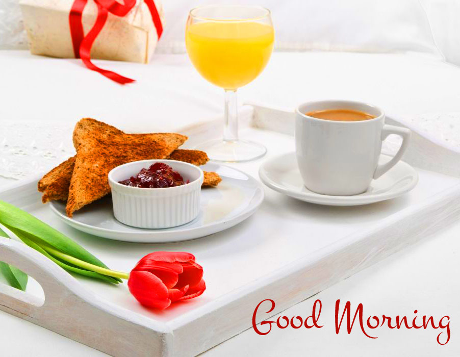 Good Morning with Lovely Breakfast Pic