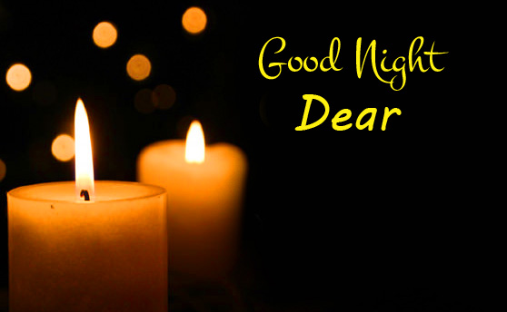 Good Night Dear Message Greeting Candles Picture