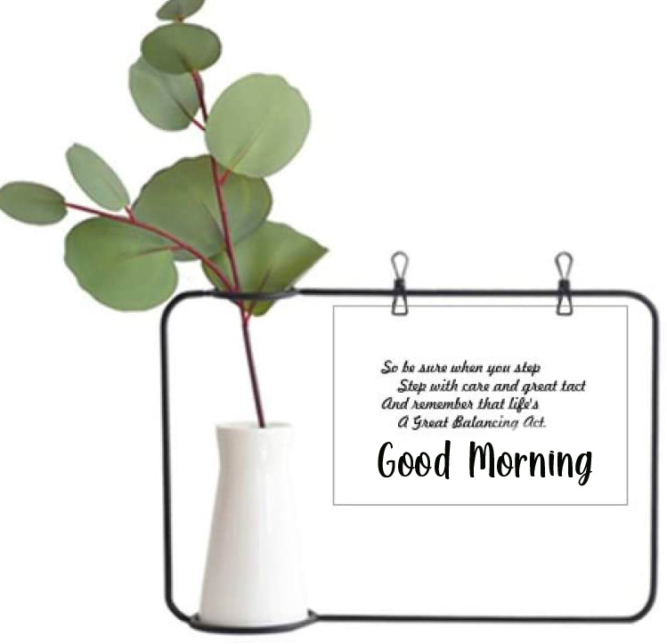 Gree Leaves Quotes Good Morning Pic