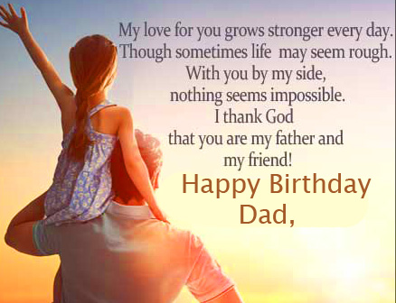 Happy Birthday Dad Quotes Picture HD