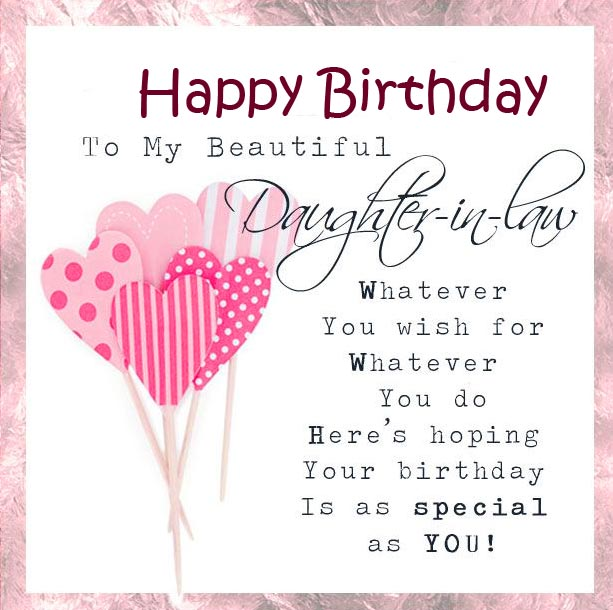 Happy Birthday Message for Daughter in Law