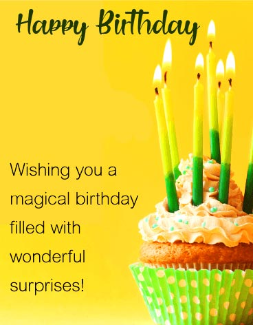 Happy Birthday Message for Magical Birthday
