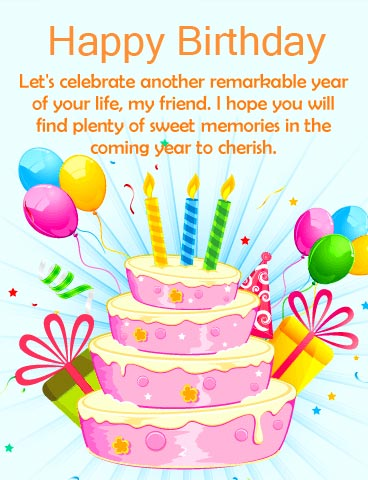 Happy Birthday Message for Sweet Friend