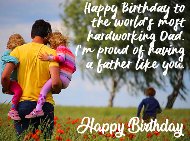 Happy Birthday with Dad Message