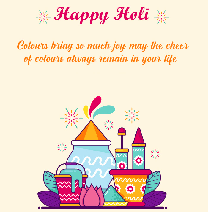 Happy Holi Colourful Message Pic