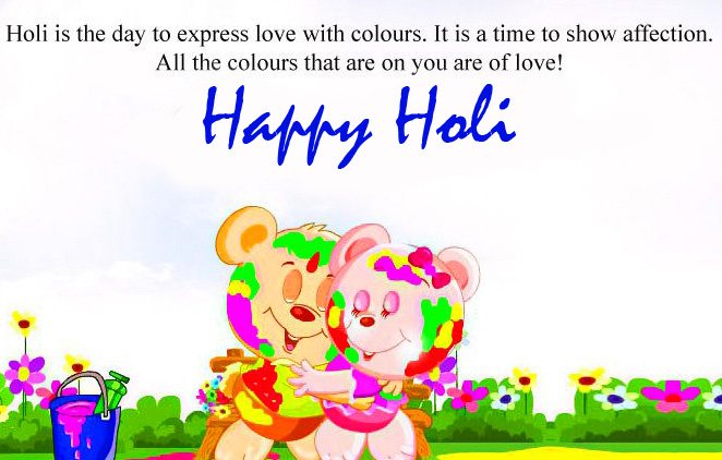 Happy Holi English Quotes Picture