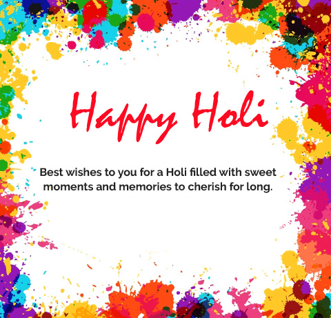 Happy Holi Greeting with Quotes Pic