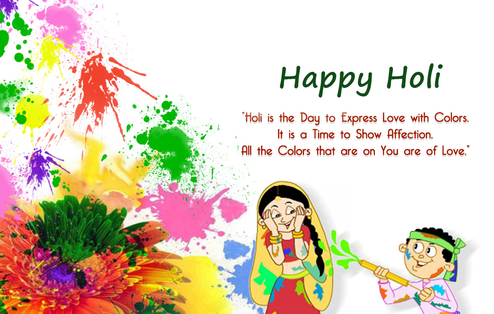 Happy Holi Quotes Colourful Wallpaper